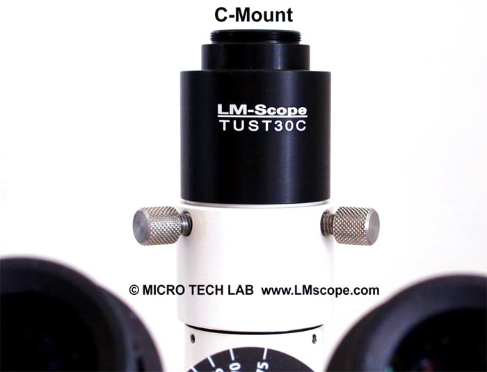 LM direct image c-mount port 1x con conexión C-Mount para microscopio Zeiss con fototubo