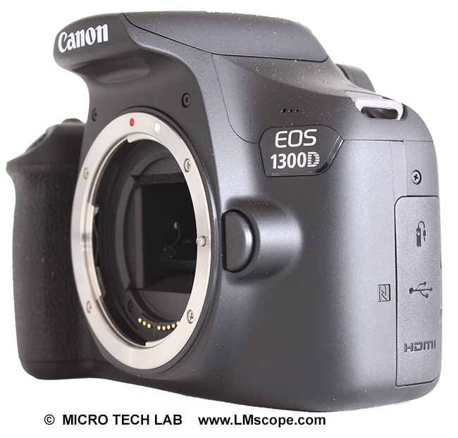 The new Canon DSLR EOS 1300D a microscope camera with an
