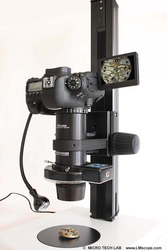 LM macroscope 9x microscope camera