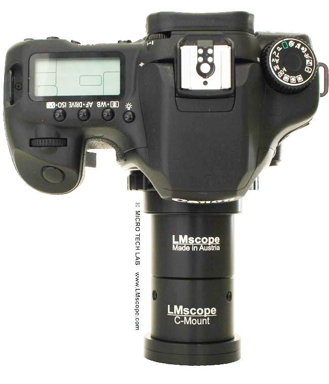 microsocpe adapter with c-mount Canon EOS