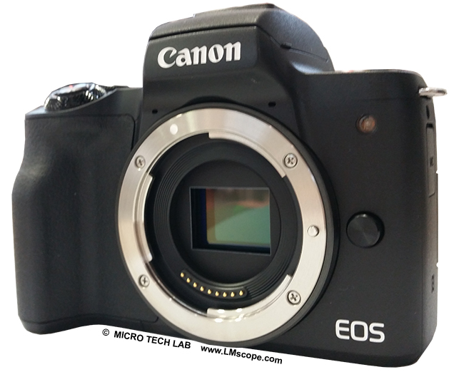 Canon EOS M50 appareil photo au microscope
