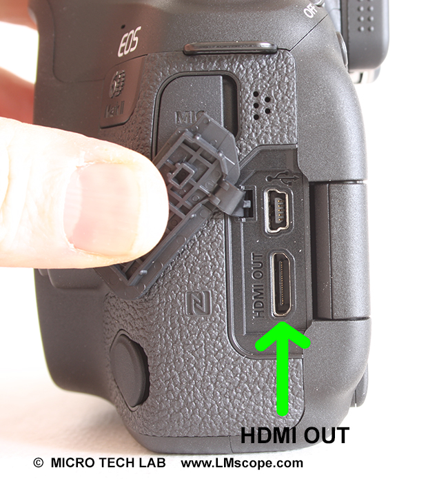HDMI output USB port DSLR