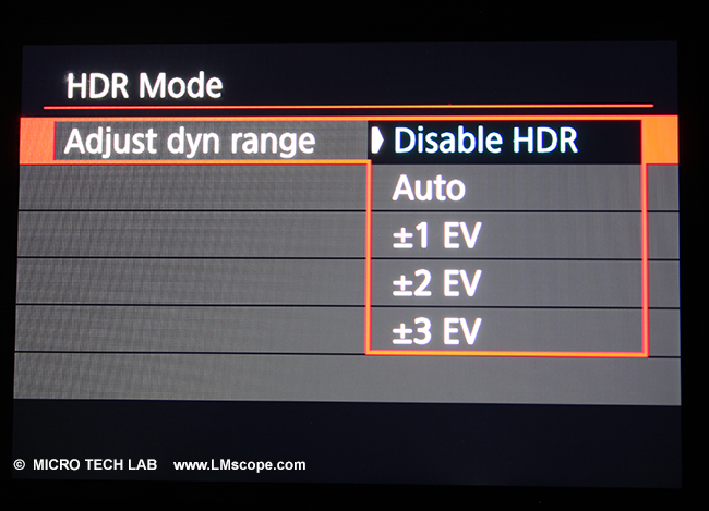 disable HDR mode