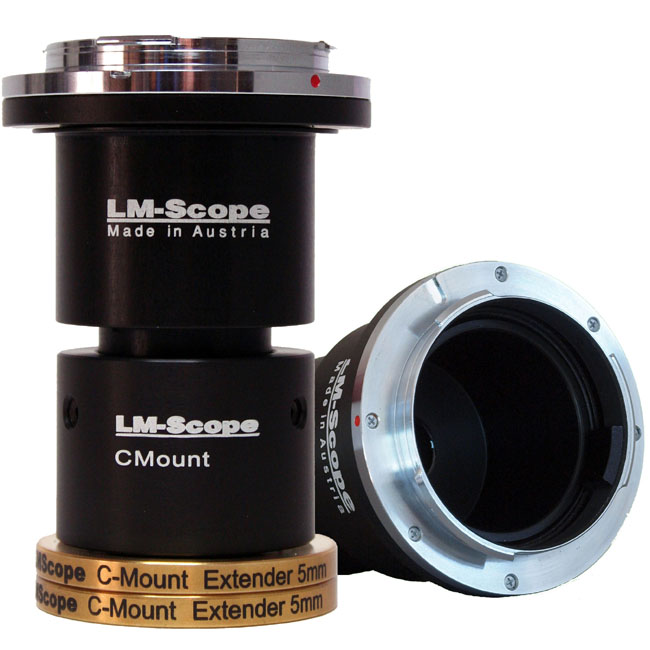 Lm digital adapter for connecting cameras with microscopes