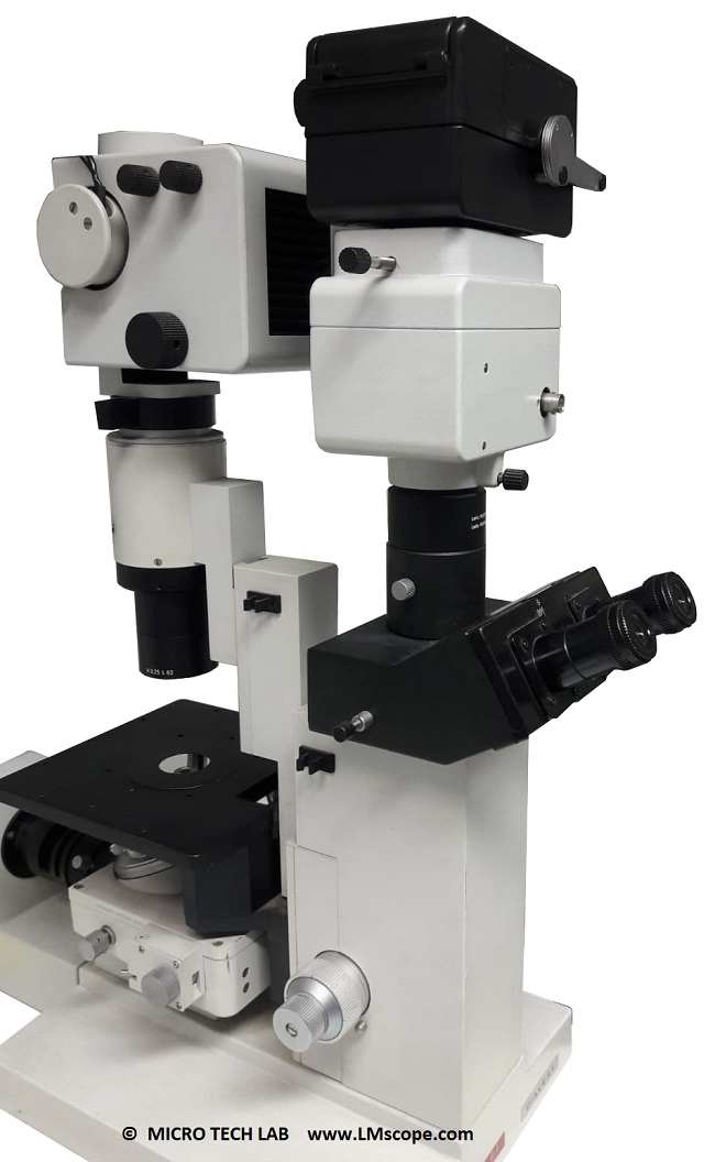 Inverse microscope Leitz Leica camera adapter analogue microscopecamera