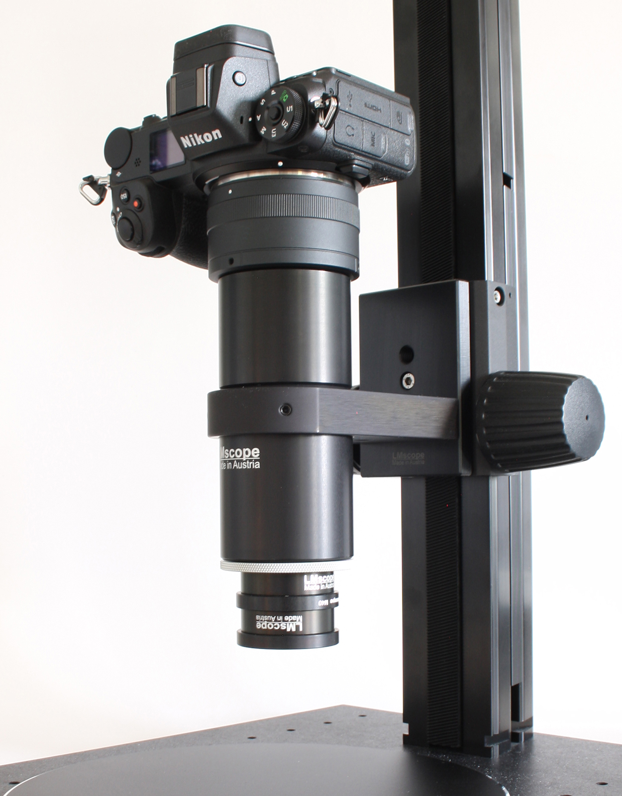 options to mount a macroscope on a stand