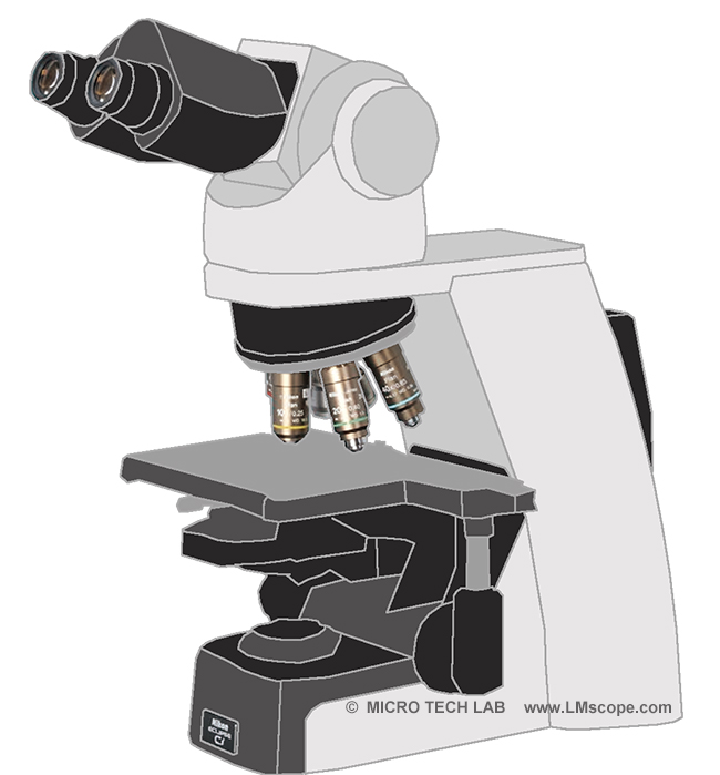 research microscope Nikon Ci for photography