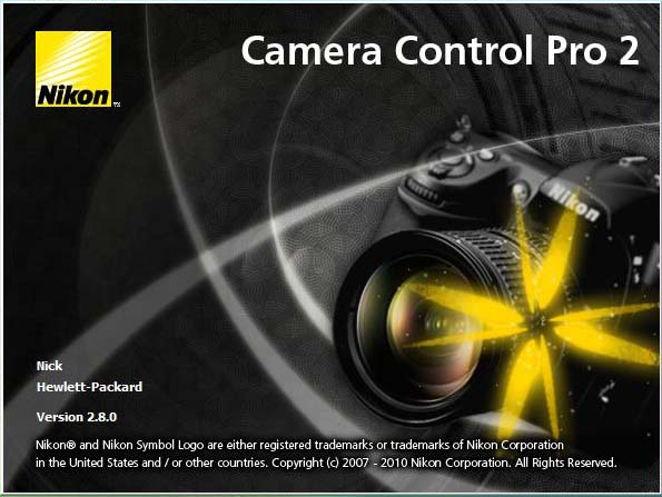 Nikon Camera Control Pro2 software