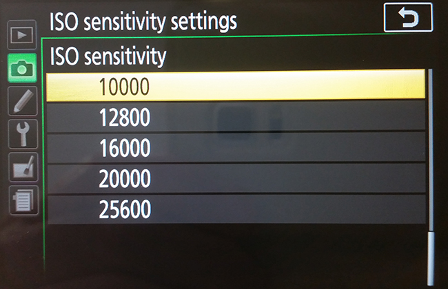 middle iso sensitivity