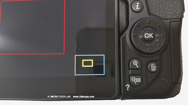 magnifying feature display DSLR