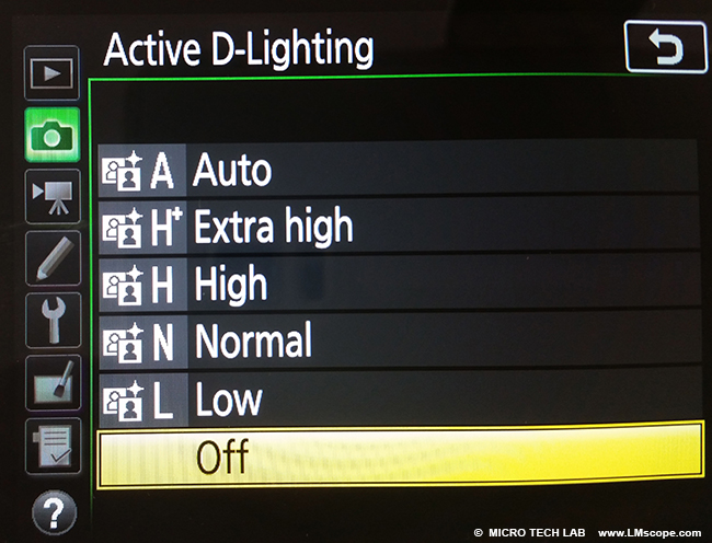 active-d-lighting DSLR
