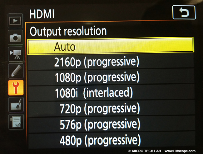 is my camera able to connect with a monitor? HDMI setting customise D7500