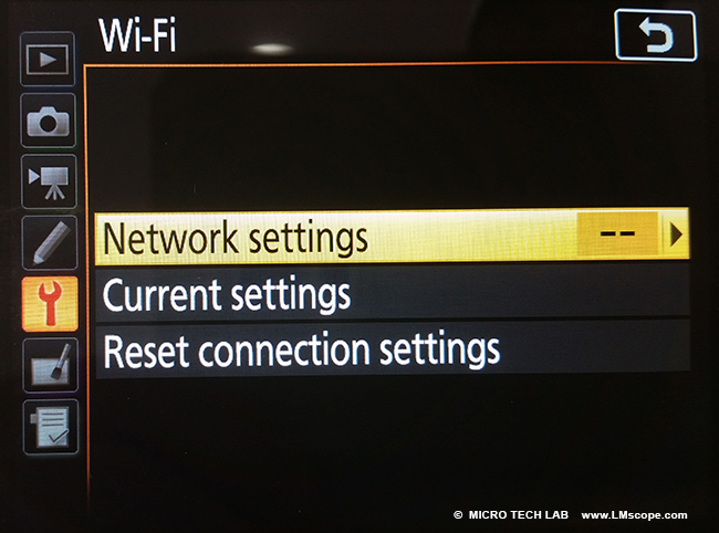 working with WLAN Wi-Fi with camera