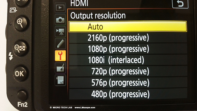 HDMI output fullframe camera