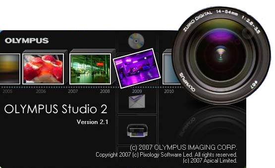Olympus Studio 2 software for photomicroscopy