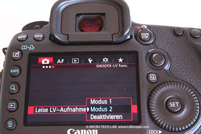 Canon 5D Mark III Silent mode
