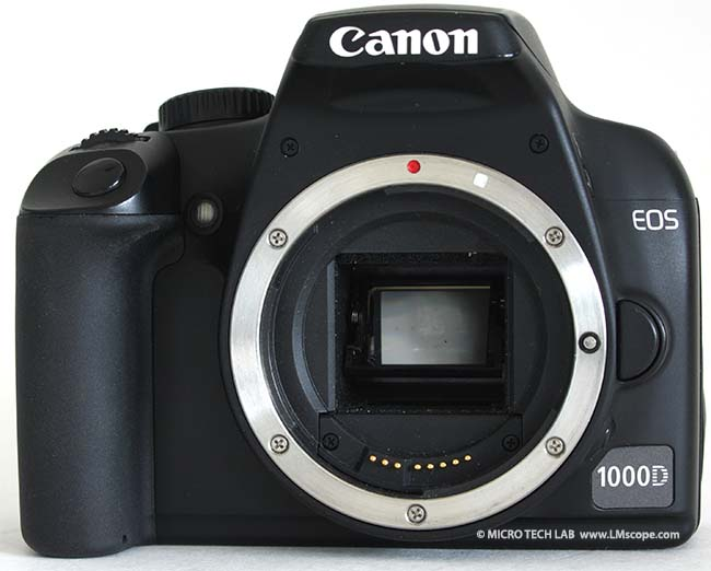 Canon EOS 1000D Frontansicht