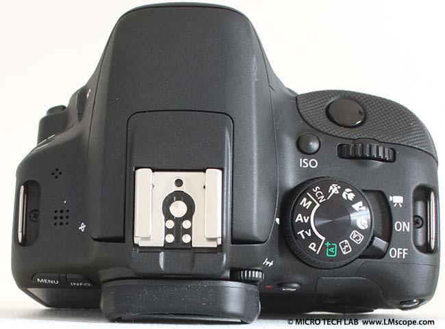 Canon eos d was kann die derzeit kleinste dslr am mikroskop