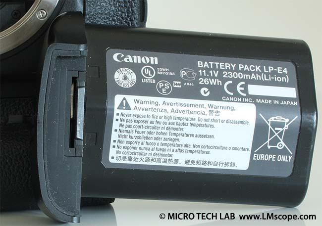 Canon EOS 1D X battery