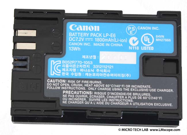 Canon EOS 6D battery dummy