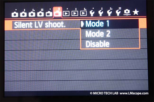 Live view mode Canon EOS 6D