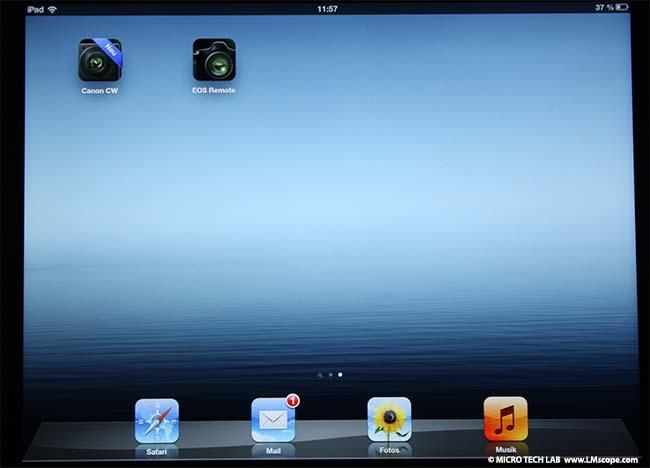 Canon EOS remote app: operating EOS cameras by remote control via
