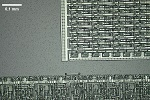 computer chip made by MUPID (1980ies) - 200x magnification