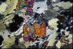 Rock thin section under the microscope