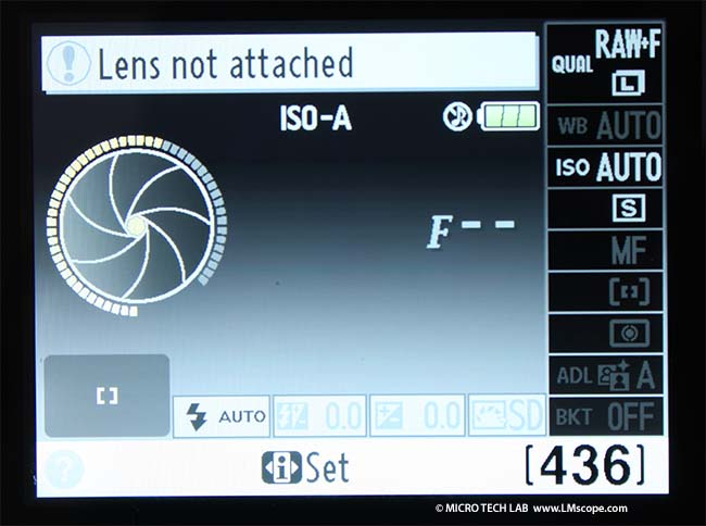 Nikon D5100 without CPU lens blocked all automatic functions