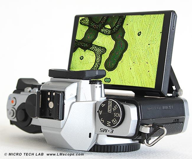 Die systemkamera olympus om d e m am mikroskop mit lm digital