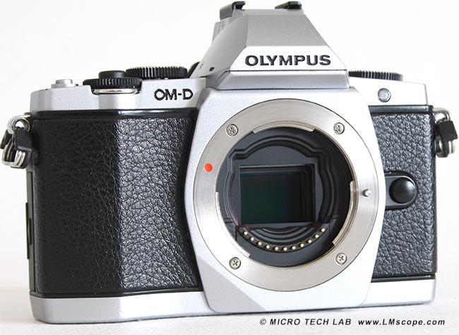 Die systemkamera olympus om d e m5 am mikroskop mit lm digital adaptern