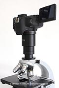 LM adapter solution for older Zeiss standard microscopes without photo tube