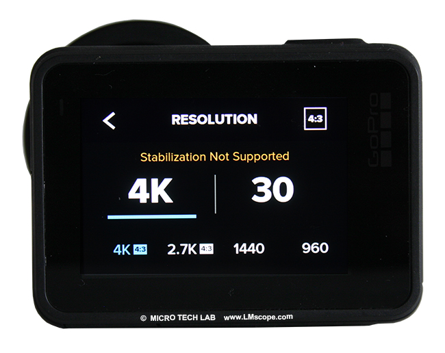 An action camera for microscopy? The GoPro Hero7 Black delivers excellent 4K video quality when used with a microscope