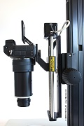 Mounting options on the stand: LM macroscopes and LM photo microscopes