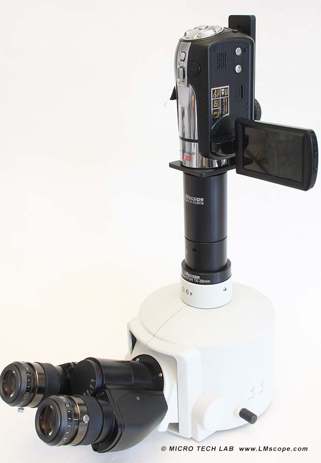 microscope tube photographique solution adaptateur photo compact et caméscope