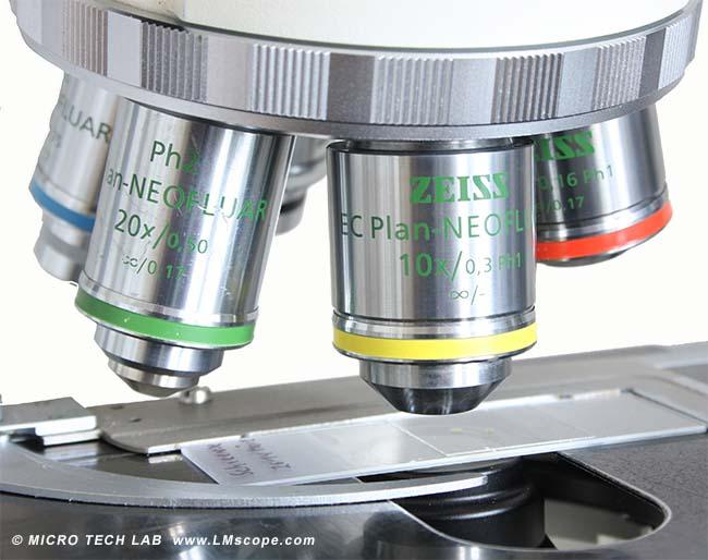 Im handumdrehen das zeiss axioskop mikroskop umbauen für die