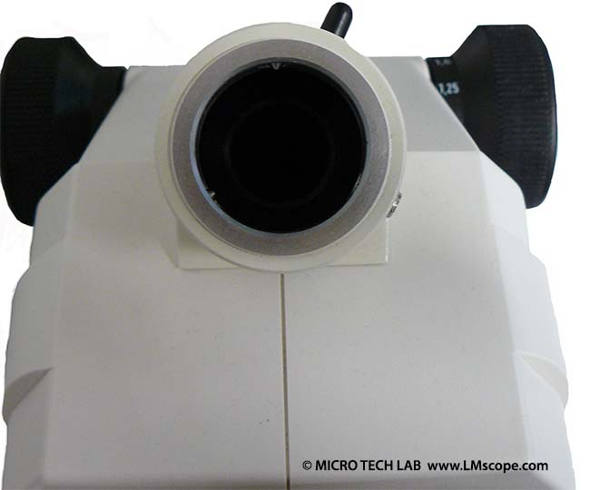 microscope Zeiss Stemi 2000C for fitting with a camera by LM digital adapters